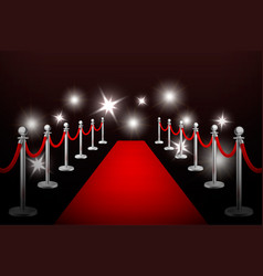 realistic red event carpet silver vector image