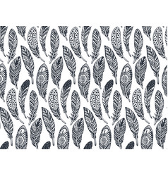 seamless pattern with hand drawn ornate vector image vector image