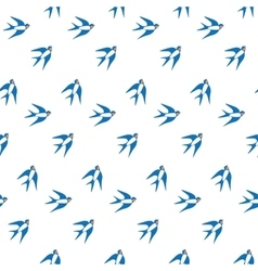 Swallow in the sky pattern vector image