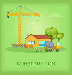 building process concept cottage cartoon style vector image