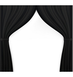 naturalistic image of curtain open curtains black vector image