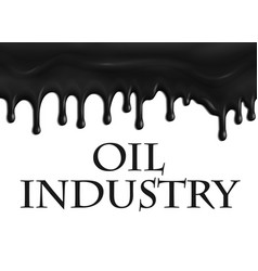 Poster for oil and gas industry vector