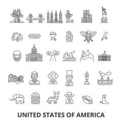 usa america new york statue of liberty united vector image
