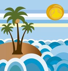 beach in summer 2 vector image vector image