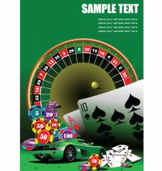casino elements vector image vector image