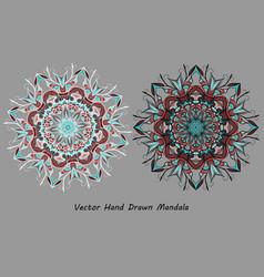 colorful hand drawn mandala vector image