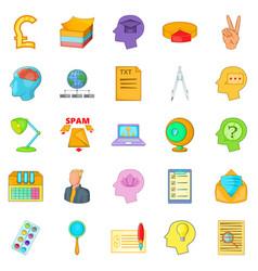 creative marketing icons set cartoon style vector image vector image