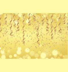 curly golden paper ribbon vector image vector image