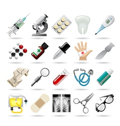 Set of medical icons and tools vector image vector image