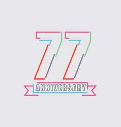 77th years anniversary logo birthday celebration vector