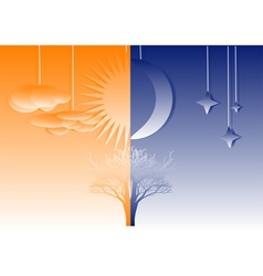 abstract night and day vector image