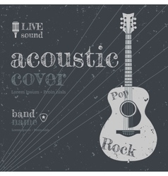 Acoustic cover vector