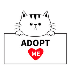 adopt me cat head face hanging on paper board vector image