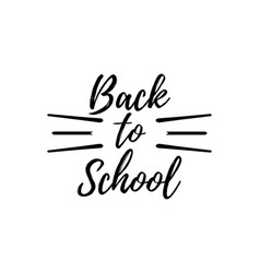 back to school typographic - vintage style vector image