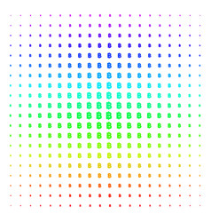 Baht shape halftone spectrum effect vector