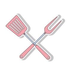 bbq cooking utensils vector image