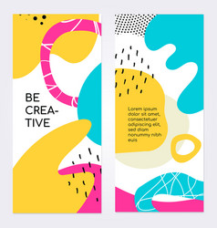 be creative brochure flyer template vector image