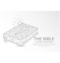 Bible digitally drawn low poly wire frame vector