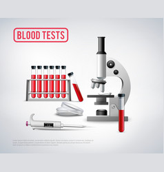 blood testing set background vector image