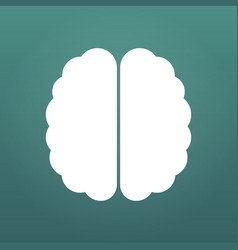 brain icon simple isolated on modern background vector image