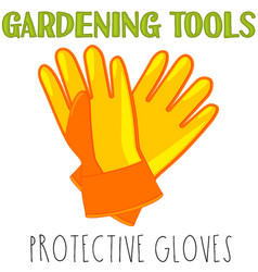 bright colorful cartoon protective gloves vector image