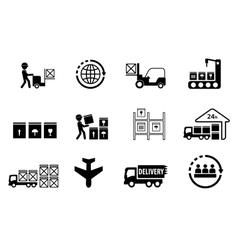cargo delivery set vector image