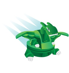 Cartoon robot dinosaur toy vector
