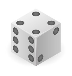 Chance lucky dice icon isometric style vector