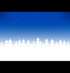 Christmas tree snow blue sky vector