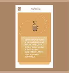 coffee mobile vertical banner design design vector image