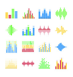 Colorful musical equalizers in form of columns vector