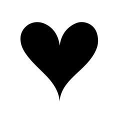 contour heart passion art decoration design vector image