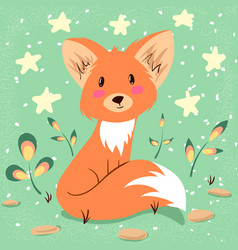 cute fox idea for print t-shirt vector image