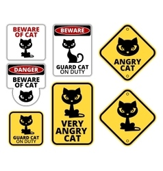 Danger cat vector