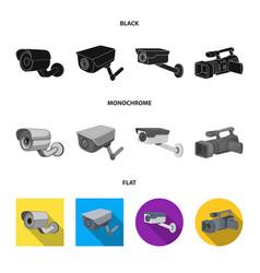 Design camcorder and camera symbol set vector