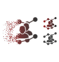 Dissolved pixel halftone audience trends icon vector