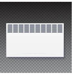 domestic electric heater icon of home con vector image