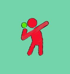 Flat isometric athletics hammer throw summer vector