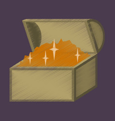 flat shading style icon treasure chest vector image