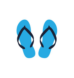 Flip flop graphic design template isolated vector