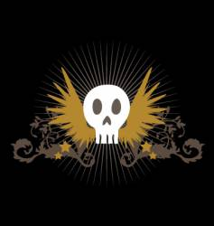 flying skull vector image