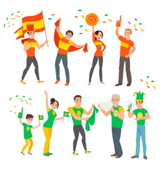 football fans at the world cup vector image