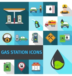 Gas Station Icons Flat vector