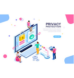 General data protection banner vector