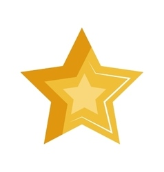 Gold shiny star vector
