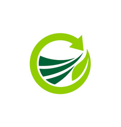 green project logo design template vector image