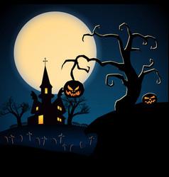 happy halloween dark poster vector image