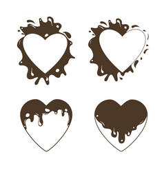 heart-set-chocolate vector image
