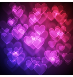 Hearts bokeh background vector image