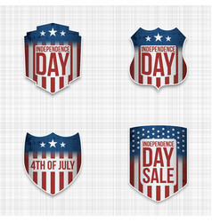 independence day sale festive signs set vector image